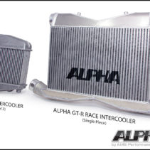 AMS Alpha_Logo_GT-R_Race_Intercooler_Comparison
